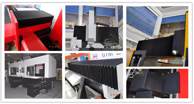 Customized Flexible Bellow Cover for CNC Machine